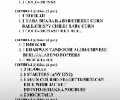 rustic kitchen menu