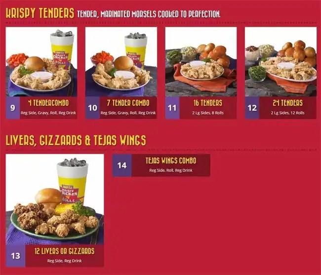 Menu at Hartz Chicken Buffet fast food Houston Westheimer Rd