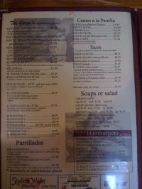 El Patio Restaurant Menu, Menu for El Patio Restaurant