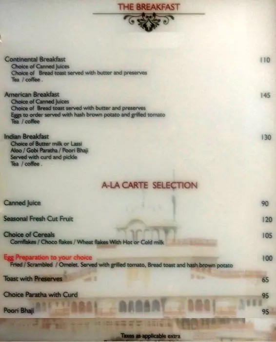 Crystal Lounge Hotel Gandharva By Peppermint Menu Zomato