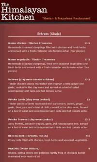 The Himalayan Kitchen Menu, Menu for The Himalayan Kitchen ...