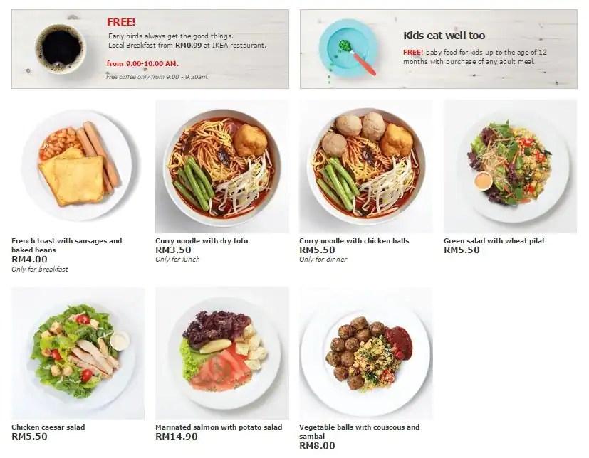 Ikea Restaurant Menu Indonesia - Test 7