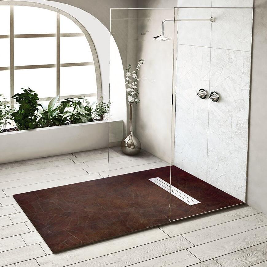 receveur de douche en resine motif retro nudespol