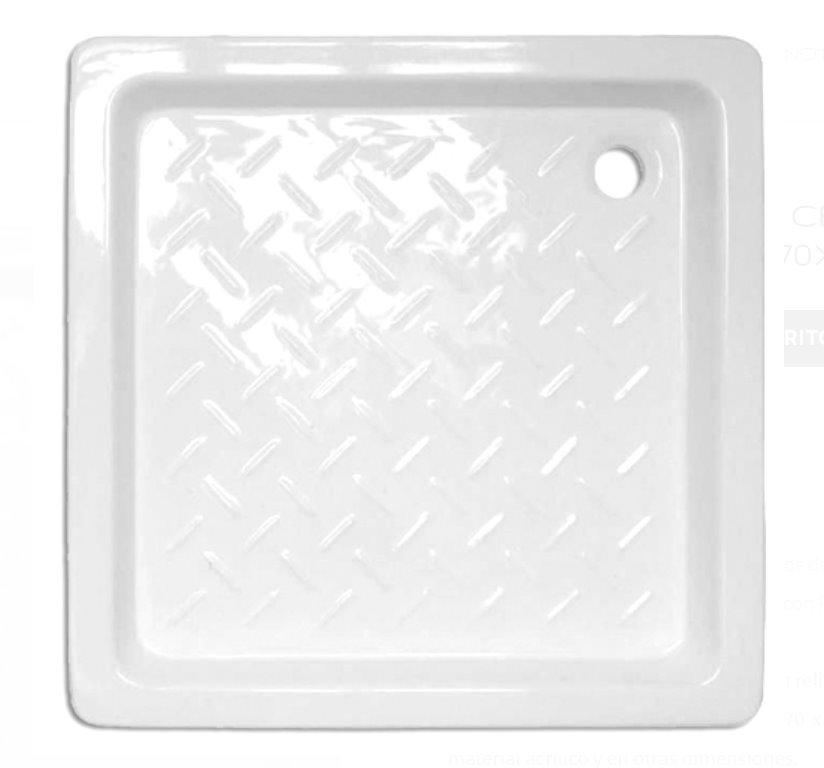 receveur de douche en ceramique carre tegler