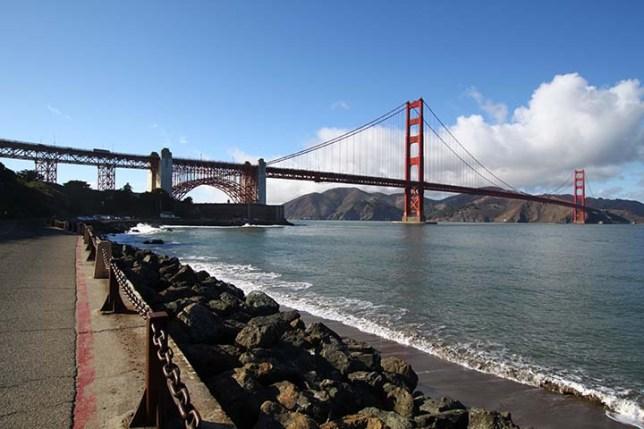 フォートポイントから見たゴールデンゲートブリッジ (Golden Gate Bridge view from Fort Point)