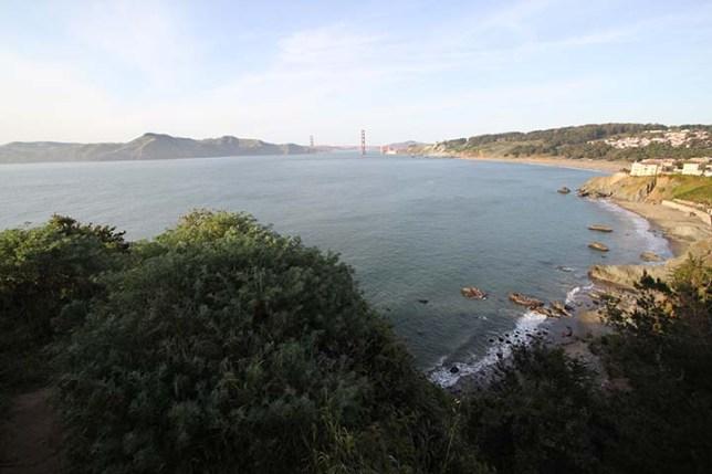 ランズエンドから見たゴールデンゲートブリッジ (Golden Gate Bridge view from Lands End)