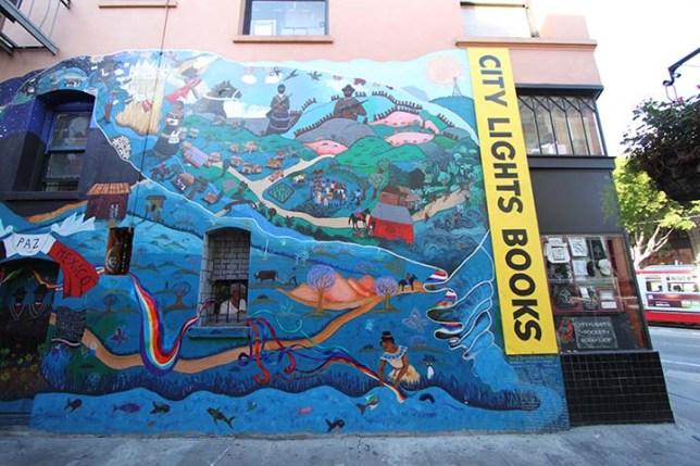 mural on Jack Kerouac Alley in San Francisco