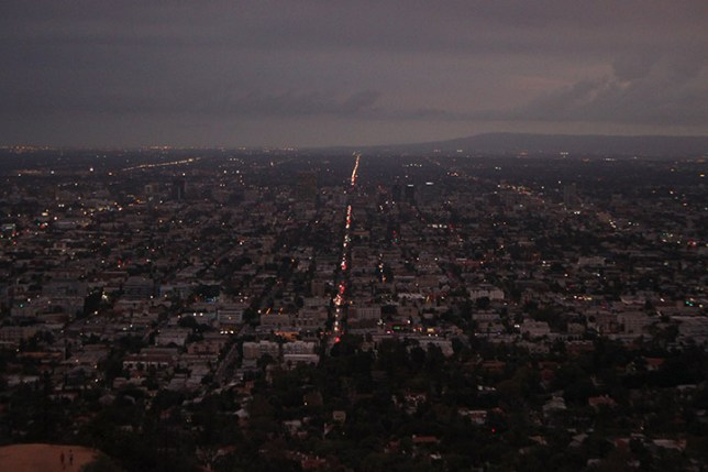 View from Griffith Observatory at Griffith Park in Los Angeles