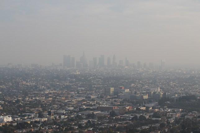 ロサンゼルスのダウンタウン 1月 Downtown Los Angeles, January