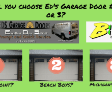 Ed's Garage Doors…1, 2, or 3?