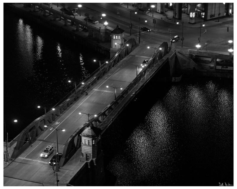 Franklin Street Bridge at Night