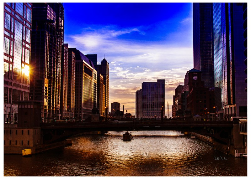 It's Too Easy To Cry Chicago River, dusk