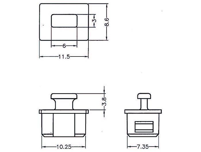 Staubschutz für Fire Wire 1394A 6 Pin Buchse mit Griff 10