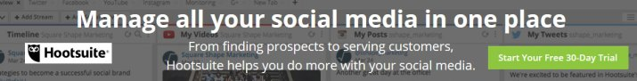 HootSuite - manage all your social media