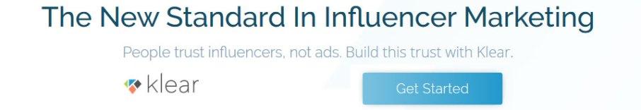 The stndard in influencer marketing - Klear