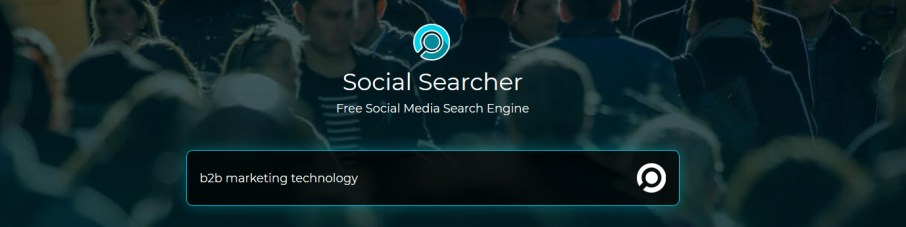 Track your brand on social media - Social Searcher