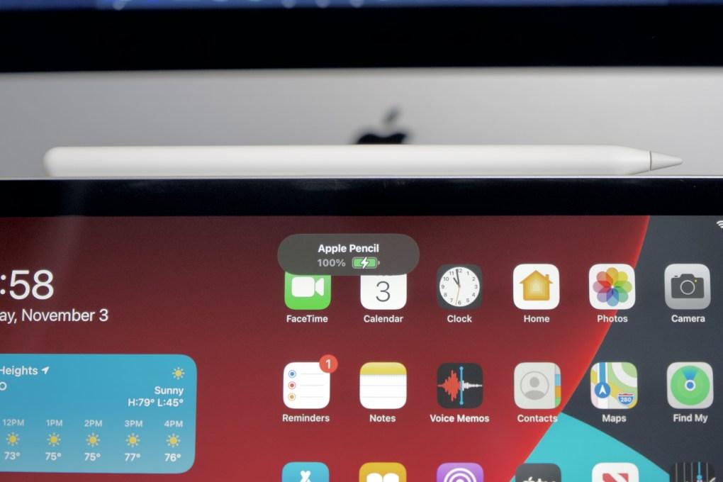 iPad Air Apple Pencil charging