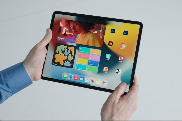 iPad OS 15 widgets