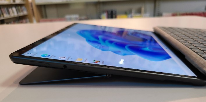 Microsoft Surface Pro 8 left side reclined