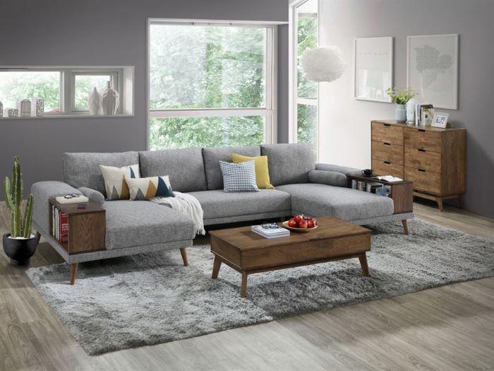 paris modular sofa series u shape sofa with chaise grey fabric