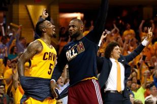 Lebron James and the Cavaliers during the 2015 NBA Finals