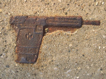 gun in cement