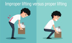 Back Pain at work - Improper lifting versus proper lifting