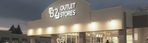 B2 Outlet Store Location Lights On