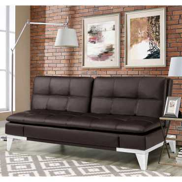 Jeneva Bonded Leather Euro Lounger – B2 Outlets