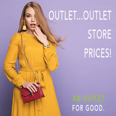 Outlet Store, dresses, woman in dress, purses, deals on clothing