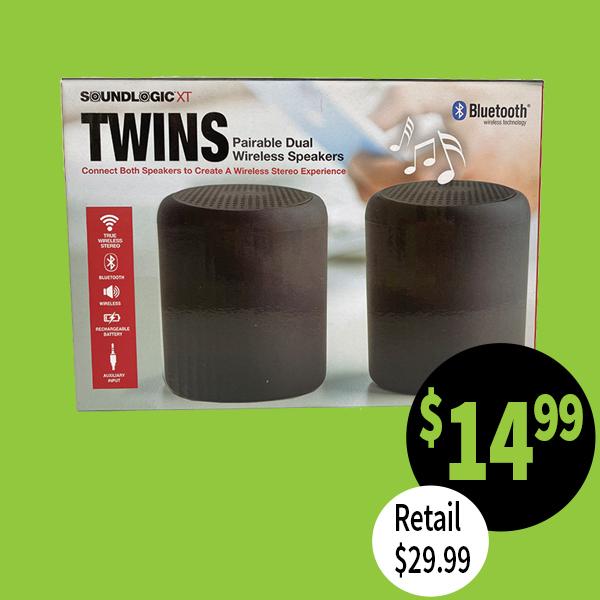Twin Bluetooth speakers