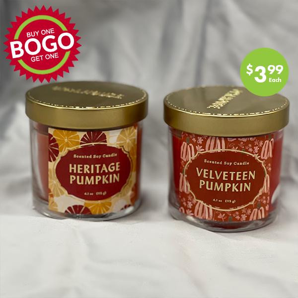 pumpkin candles , BOGO sale