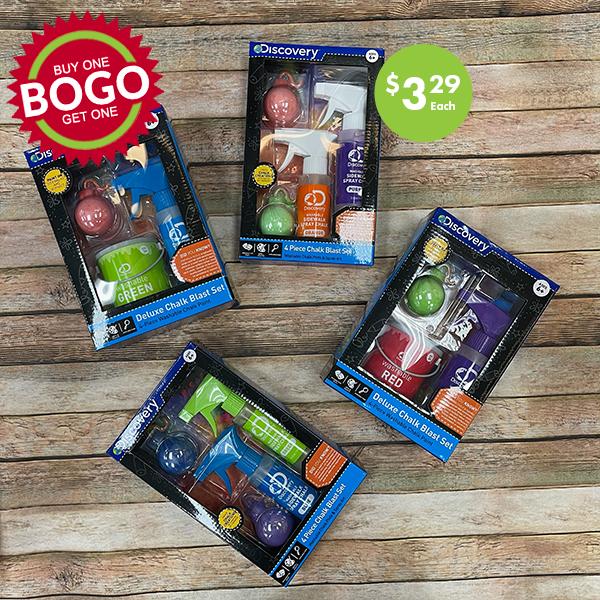 Kids chalk blaster set BOGO sale