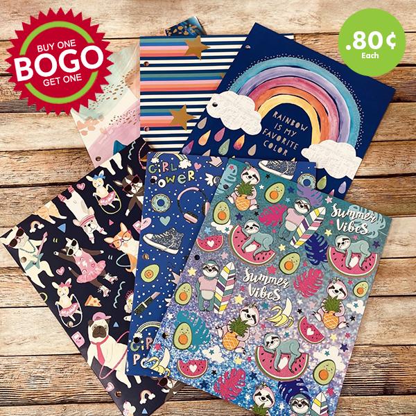 school folders BOGO sale