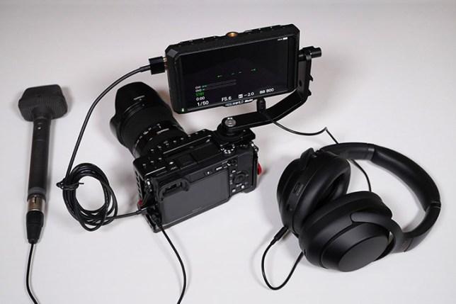 SONY α6400で音声のモニタリング 接続イメージ2