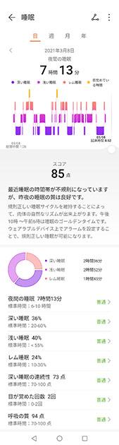 Huaway ヘルスケアアプリ 睡眠_3