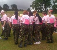 These ladies from Kings Heath and Moseley Squadron Air Cadets marched around the course!