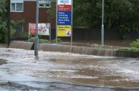 Water floods from Tesco car park in Rubery | Image by Codregor on Flickr