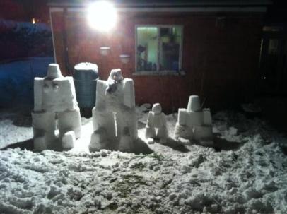 Snow family by Matt Hodges