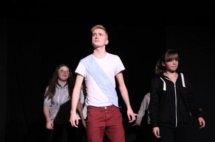 A performance by a Fourth Wall Theatre Network Group at the Custard Factory last year