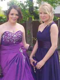 Kayleigh Shirley and friend Chloe from Ark Kings Academy