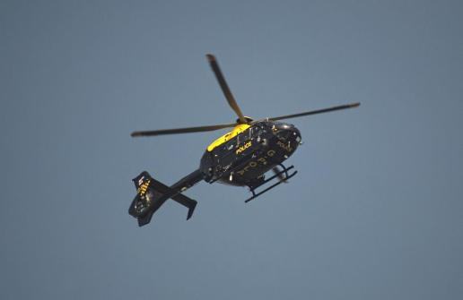 WMP Helicopter over Frankley | Image by Gord MadKat