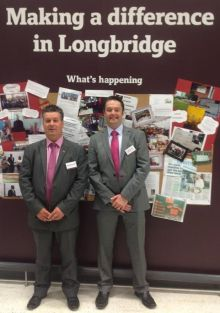 Longbridge Councillors Andy Cartwright and Ian Cruise