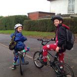 Ramadan Goa Ramsey's grandsons off to PJ day at St Laurence School, Northfield in their onesies!