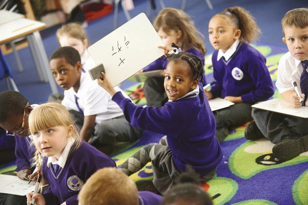 Pupils at ARK Rose Primary Academy in Kings Norton, Birmingham
