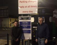 Cllr Brett O'Reilly (L) and MP Richard Burden (R)