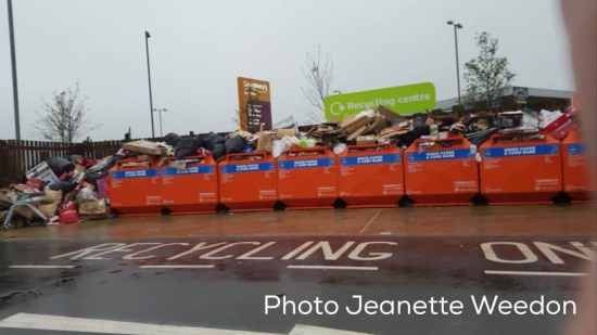 More refuse piled high at Sainsbury's in Northfield