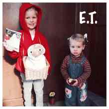 Elliot (4) teams up with his sister Paige (1) as Elliot and Gertie from ET