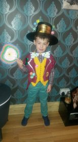 Kyle (8) from Rubery as Willy Wonka - love the hat!
