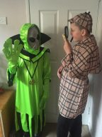 Traci O is staging a Victorian sci-fi with an alien and Sherlock Holmes!